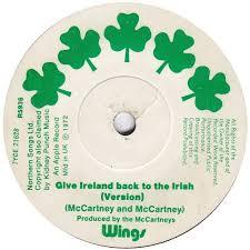 Give Ireland Back To The Irish Paul McCartney