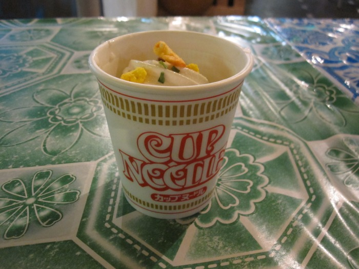ice cream cup noodle