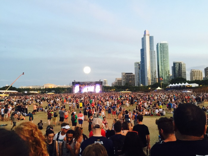 Lollapalooza festival crowd