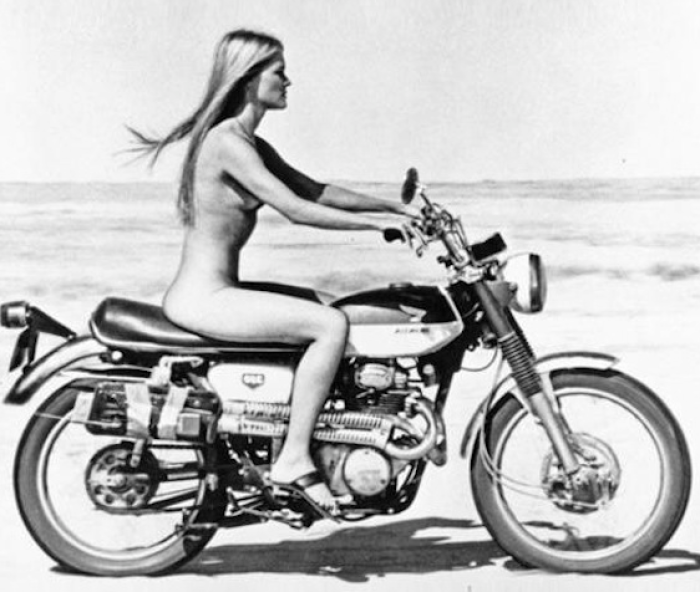 naked motorcycle rider