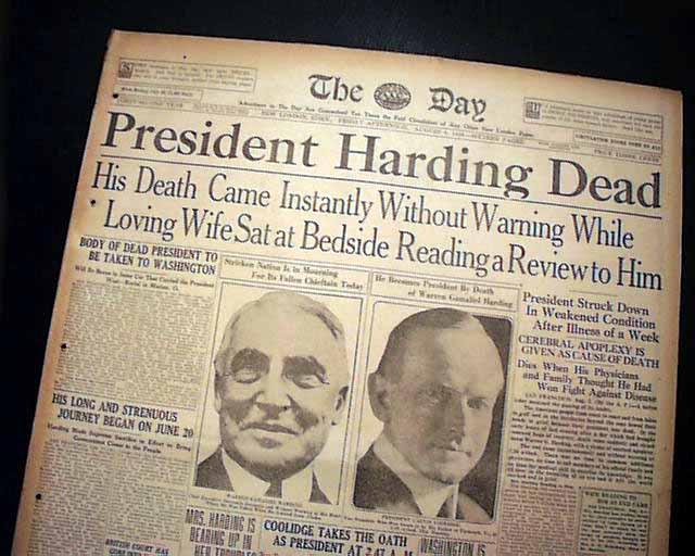President Harding sex scandal death