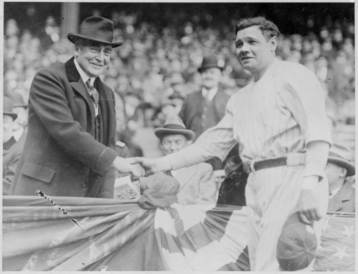 President Harding and Babe Ruth