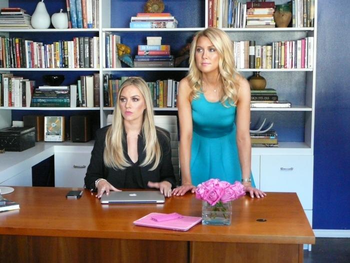 Carol Lee and Miller in office