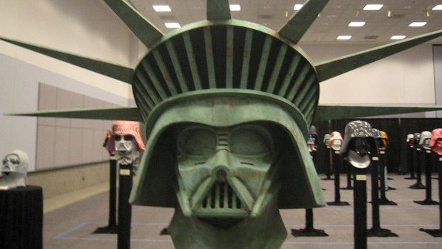 Darth Vader Statue of Liberty helmet