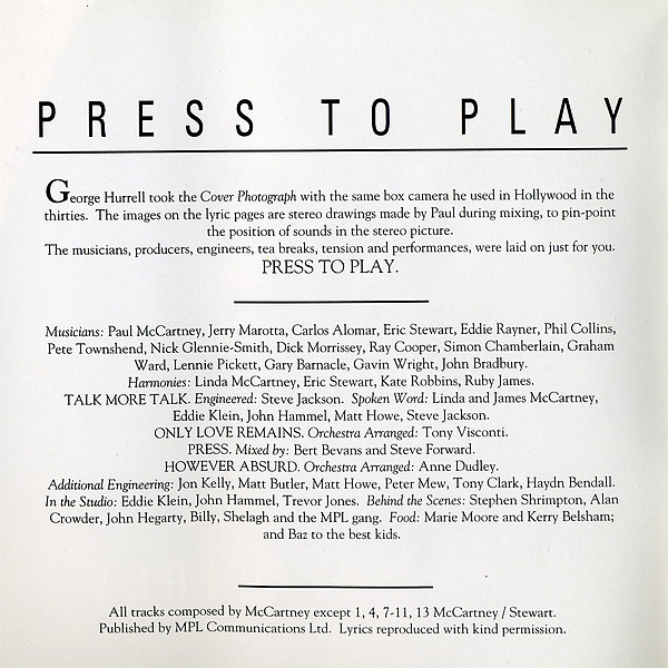 Press to play album