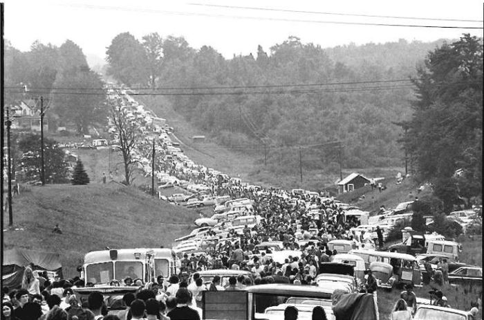 Woodstock crowds 1969