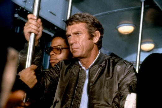 1980 --- American actor Steve McQueen on the set of The Hunter, directed by Buzz Kulik. --- Image by © Paramount Pictures/Sunset Boulevard/Corbis