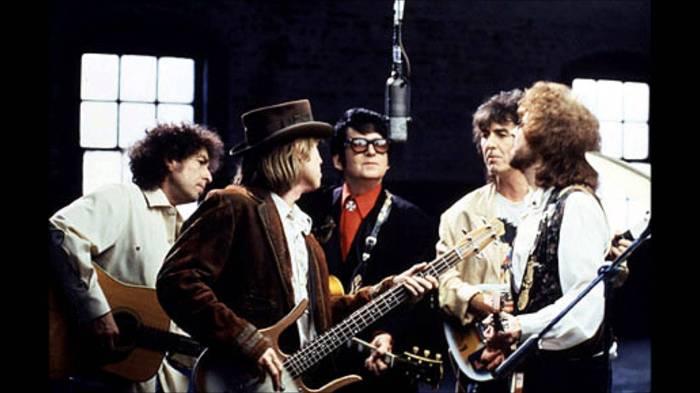 The Traveling Wilburys George Harrison Bob Dylan Tom Petty Jeff Lynne Roy Orbison