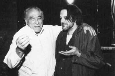 Bukowski-Rourke-on-set-of-Barfly