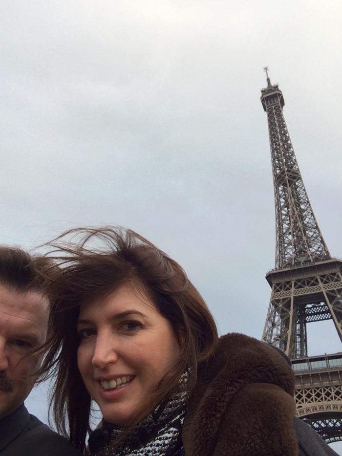 Paris Eiffel Tower Christmas Day 2015