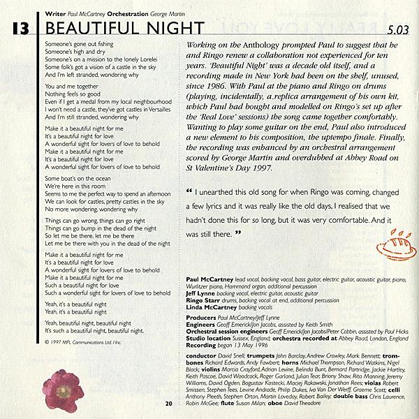 Paul McCartney Beautiful Night