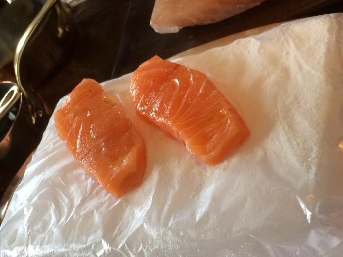 Salmon cooked on dry ice recipe
