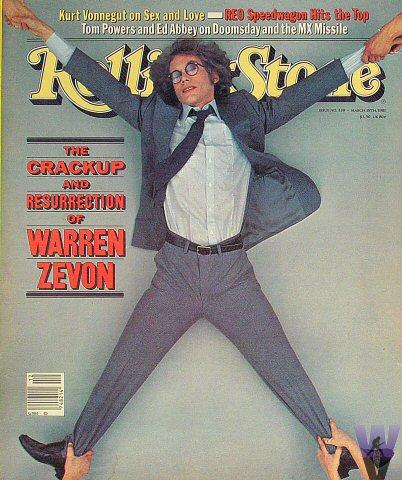 Warren Zevon Rolling Stone