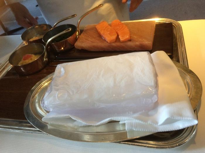 Guy Savoy restaurant Paris salmon recipe