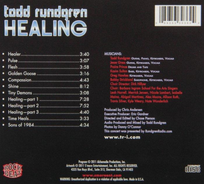 Live Healing album Todd Rundgren