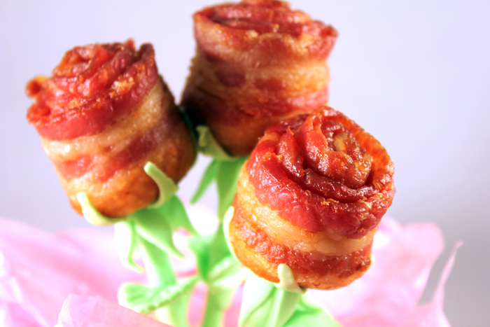 valentines day Bacon roses