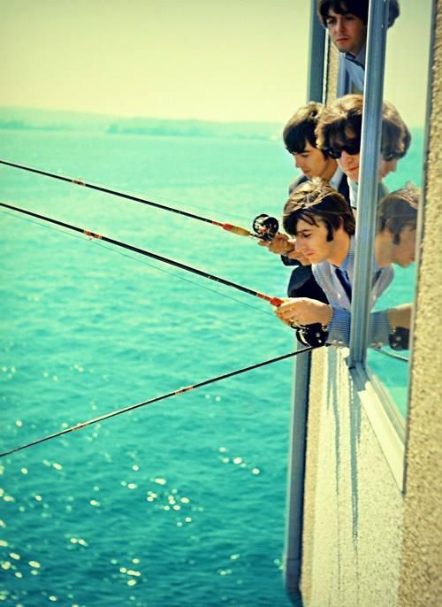 Beatles Seattle fishing 1964