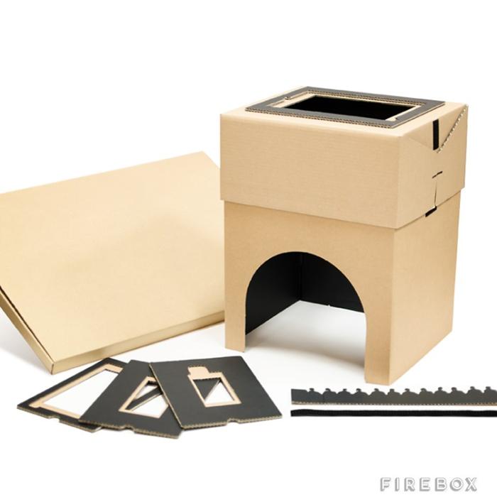 Cardboard box cinema