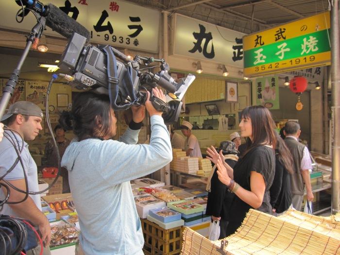 Morgan Webb Tokyo fish market