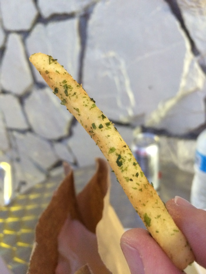 Ramen burger seaweed fries
