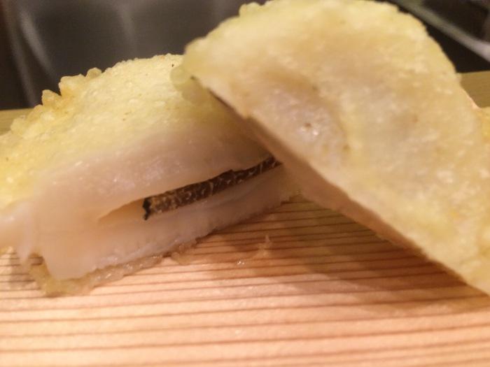 scallop truffle caviar tempura endo