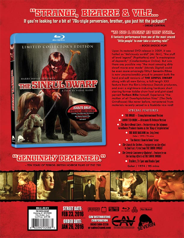 Severin films The Sinful Dwarf