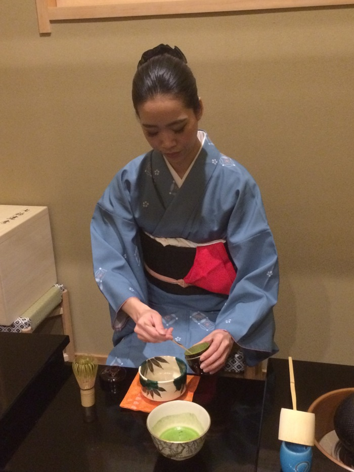 Tempura Endo tea ceremony