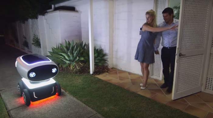 Dominoes pizza delivery robot