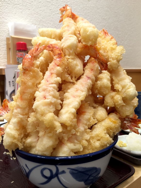 giant bowl of fried shrimp