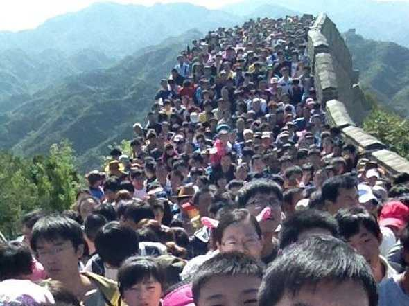 great wall of china crowds