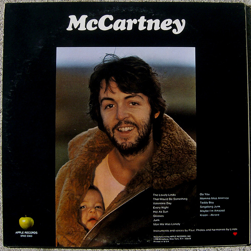 McCartney album back cover Stella McCartney