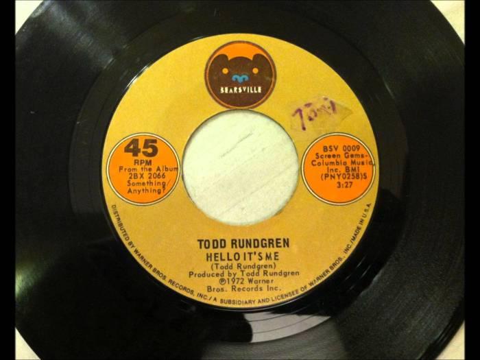 Todd Rundgren Hello It's Me