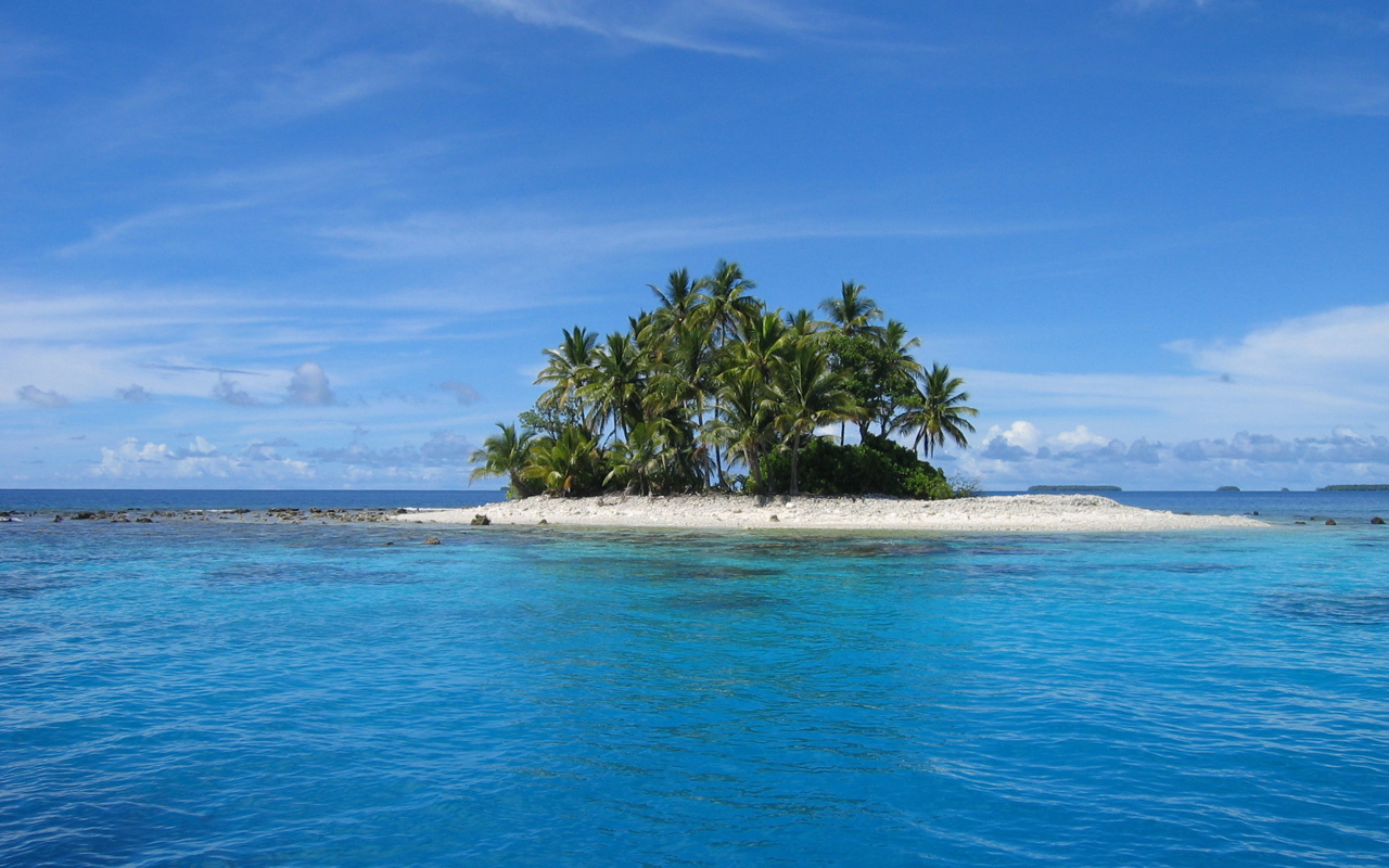 Tropical Island Paradise 1280x800 Wallpaper