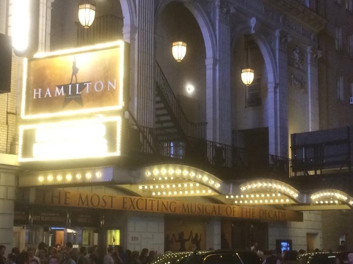 Broadway Hamilton billboard