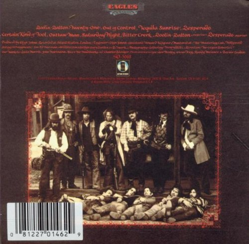 Eagles Desperado back cover