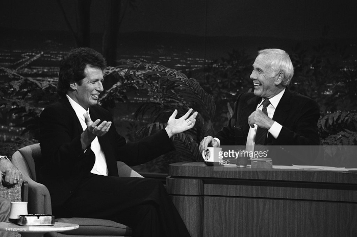Garry Shandling and Johnny Carson