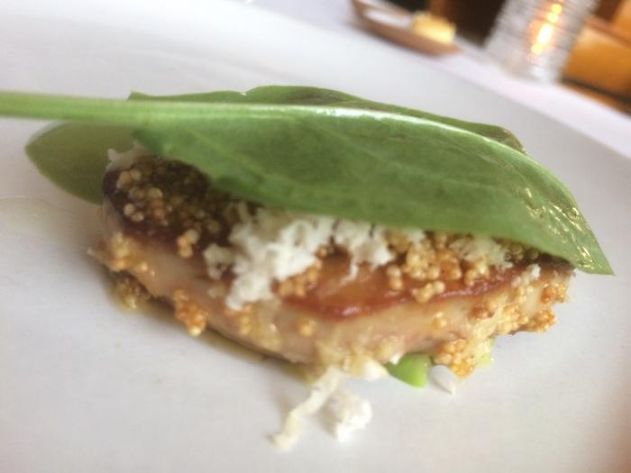 Foie gras and sinach leaf 11 Madison Park