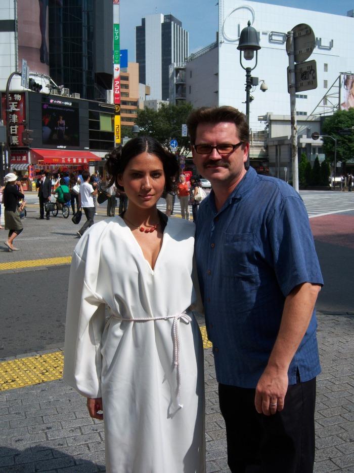 JR and Olivia Munn Shibuya