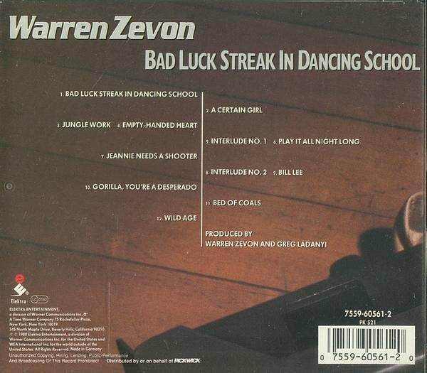 Warren Zevon Albums