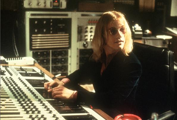 Warren Zevon in the studio