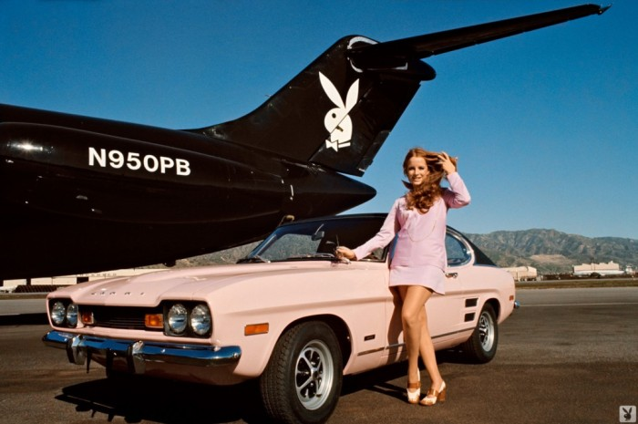 Claudia jennings with-the-Playboy-Jet