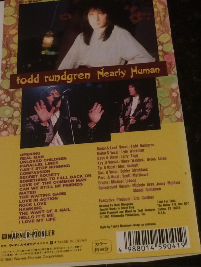 Todd Rundgren Nearly Human live