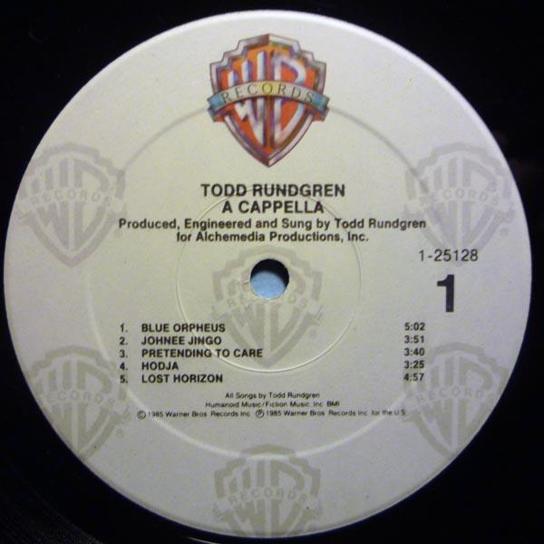 A Cappella album Todd Rundgren