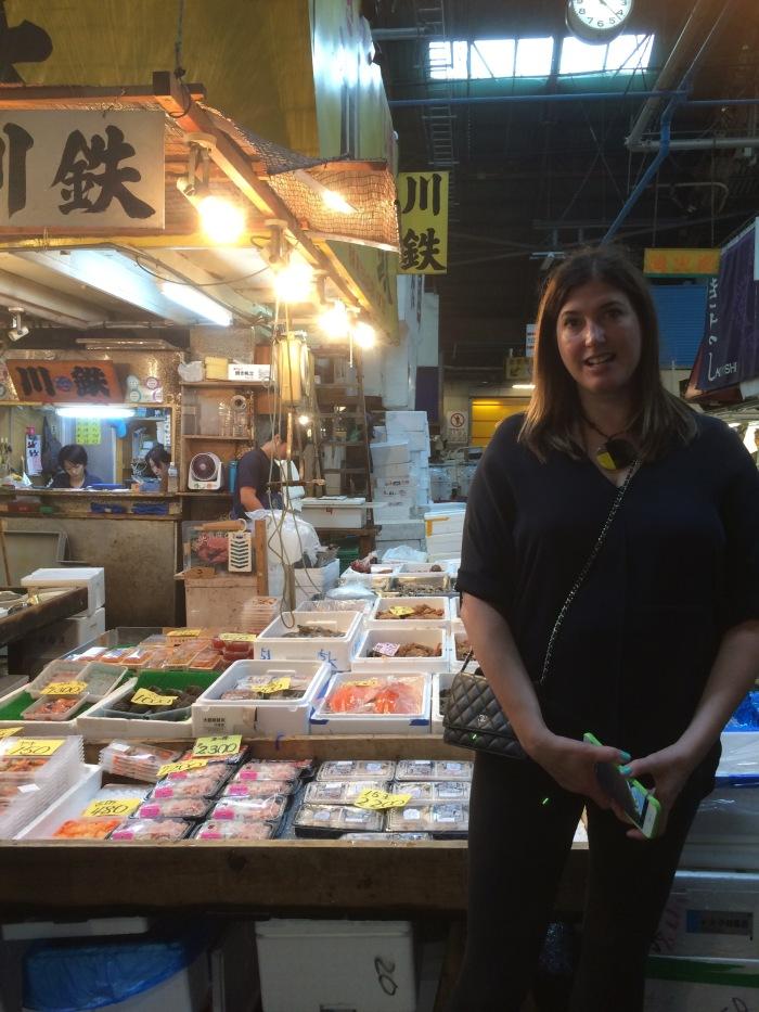 Alex Duda at Tokyo fish market