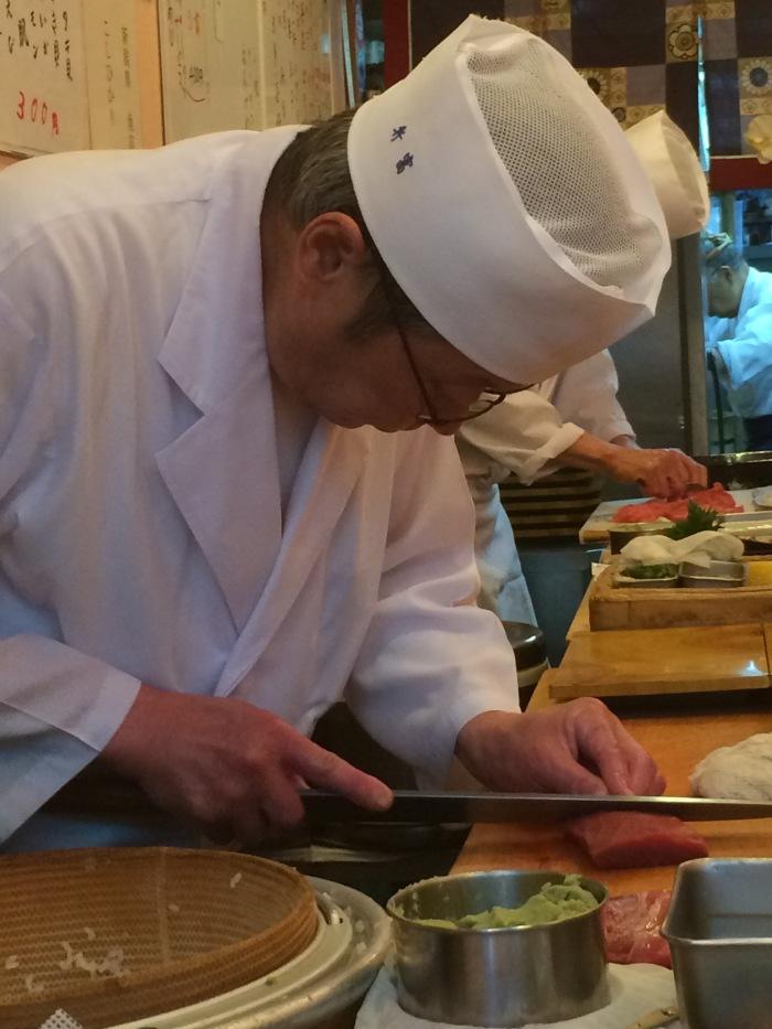 Breakfast sushi Tokyo fish market