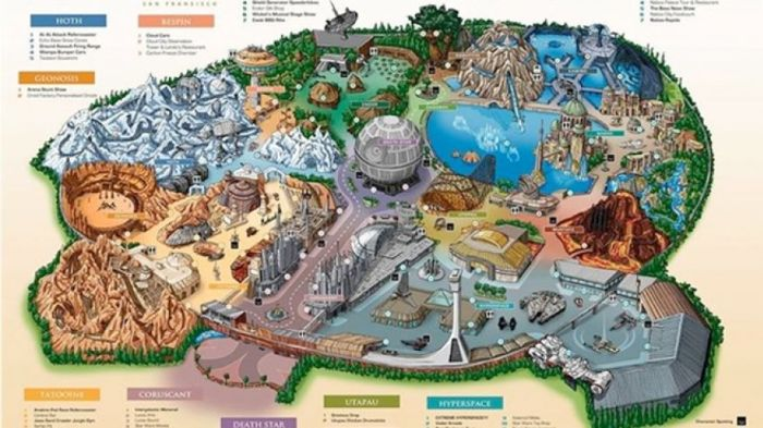 disneyland star wars map