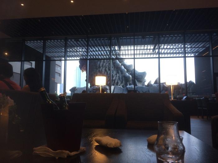 Hotel Gracery Godzilla lobby