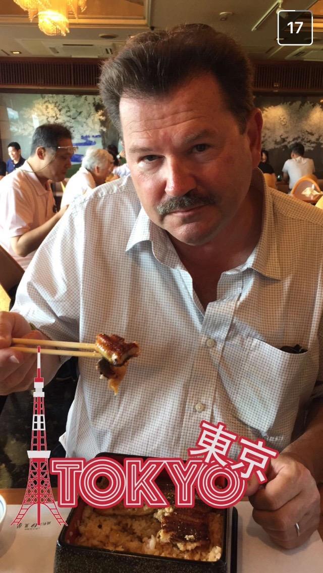 JR eating eel