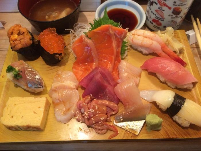 Tokyo 2016 breakfast sushi
