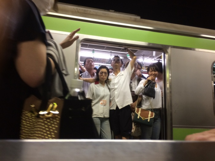 Tokyo crowded subway